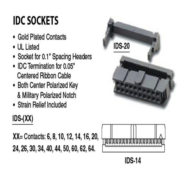 Idc Connector Custom Cable Manufacturing