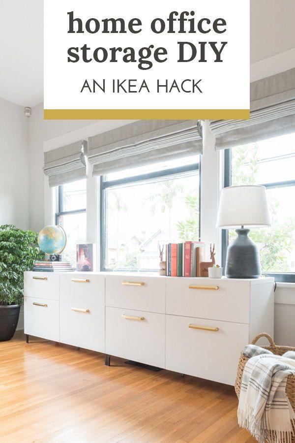 One Room Challenge Week 6 Ikea Hack For Custom Office Storage