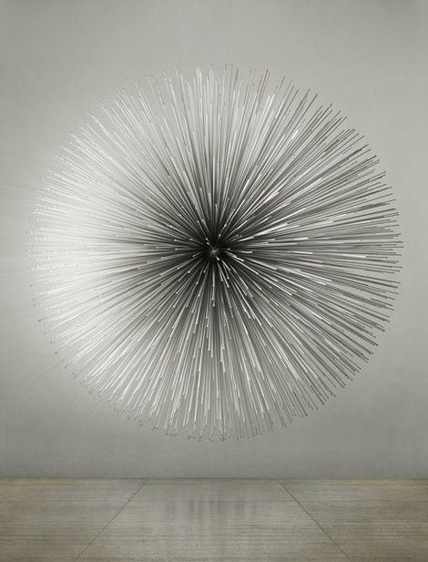 Kim Byoungho. Soft Crash, 2011. Aluminum, piezo, arduino, 330x330x165(d) cm.