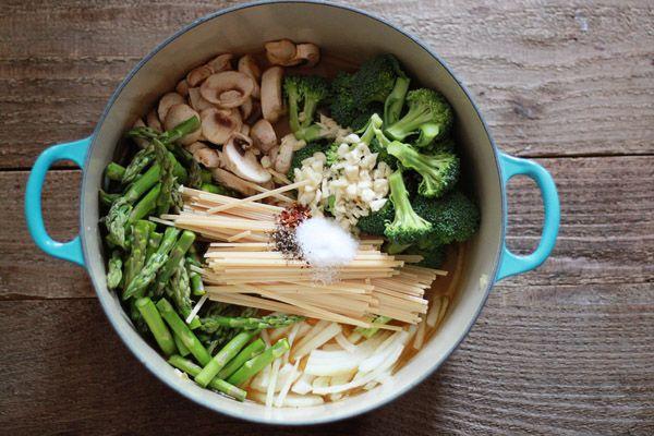 One Pot Pasta Primavera