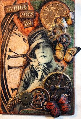 """Victoria's Art Visions: Three Muses Challenge """"Time"""""""