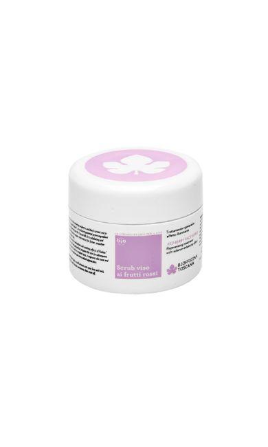Scrub naturale viso ai frutti rossi - Cosmetici naturali certificati ecobio a Km0