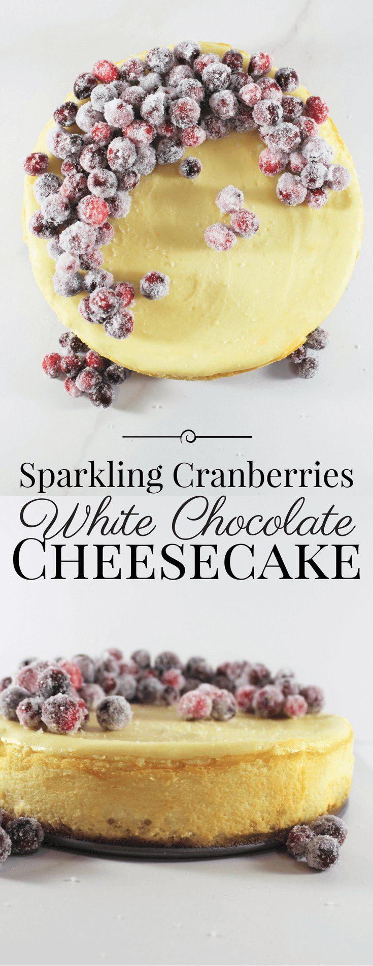 Sparkling Vranberries White Chocolate Cheesecake