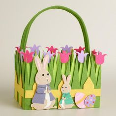 One of my favorite discoveries at WorldMarket.com: Bunny Family Felt Easter Basket