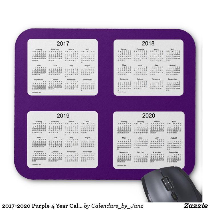 2017-2020 Purple 4 Year Calendar by Janz Mousepad | Poster ...