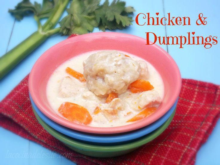 La Cocina de Leslie: Comfort Food Classics: Creamy Chicken & Biscuit Dumplings {#SundaySupper}