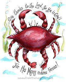Crab Print (Psalm 131)
