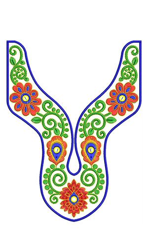 8418 Neck Embroidery Design