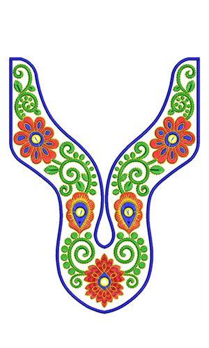 8418 Neck Embroidery Design