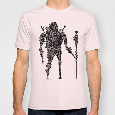 living robotic coral warrior  T-shirt by Jon Boam - $18.00