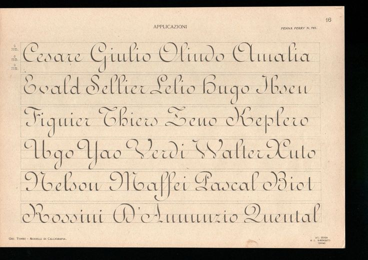 Early 20th century Ronde copybook. Click through for a full set of lessons and exemplars.