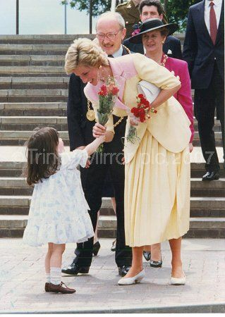 June 27, 1990:  Princess Diana visiting the Temple Park Leisure Centre in South Shields.