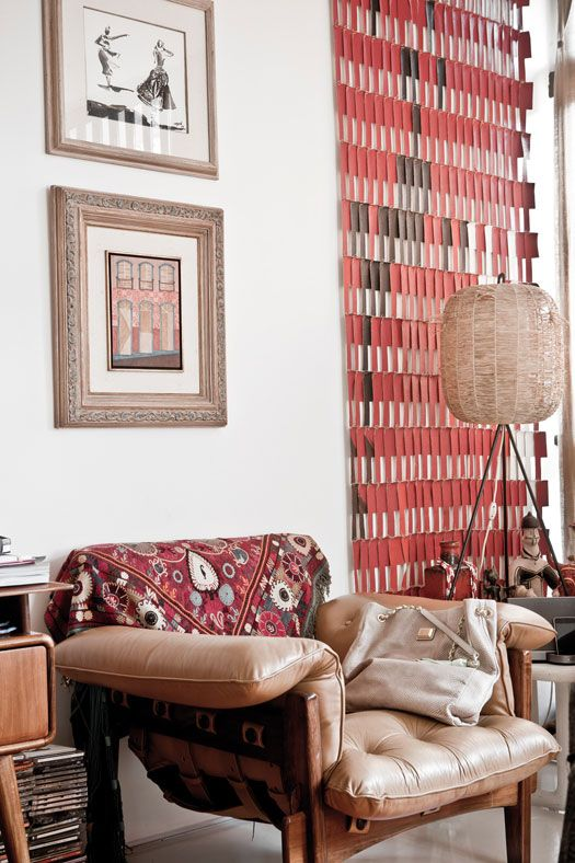Red and caramel colors with great textures.