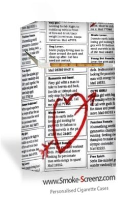 You're the one - Lonely Hearts cigarette case design from SmokeScreenz