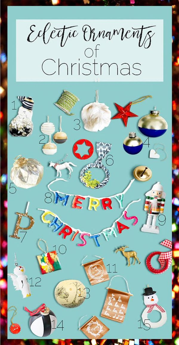 Eclectic Christmas Ornaments - 15 home decor bloggers share the stories behind their favorite Christmas ornaments