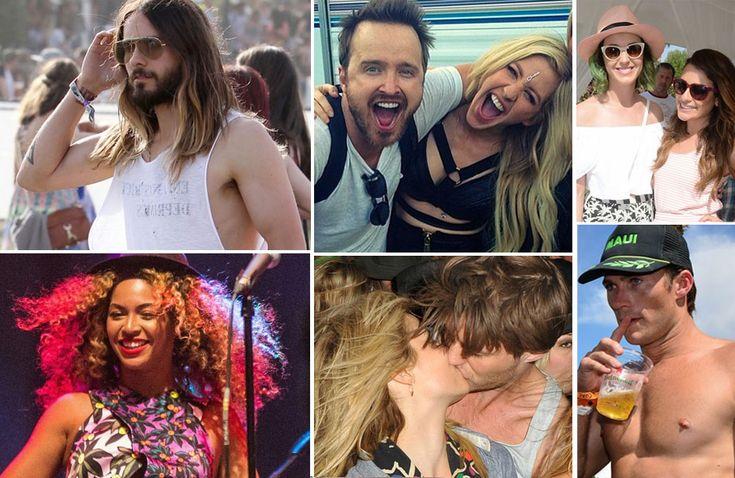 Muitos famosos lindos no Coachella 2014 se pegando, curtindo o sol, a moda e… a música!
