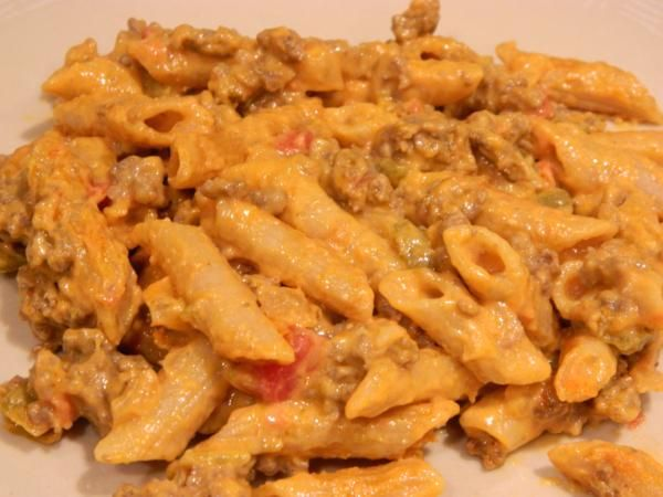 Beefy Salsa Macaroni and Velveeta Cheese. Making this tonight - we'll see how its received! fingers crossed!