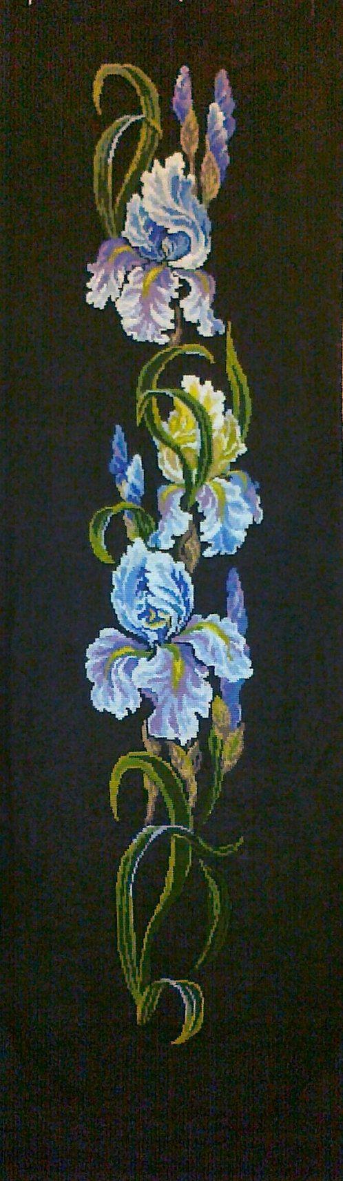 Cross Stitch Iris