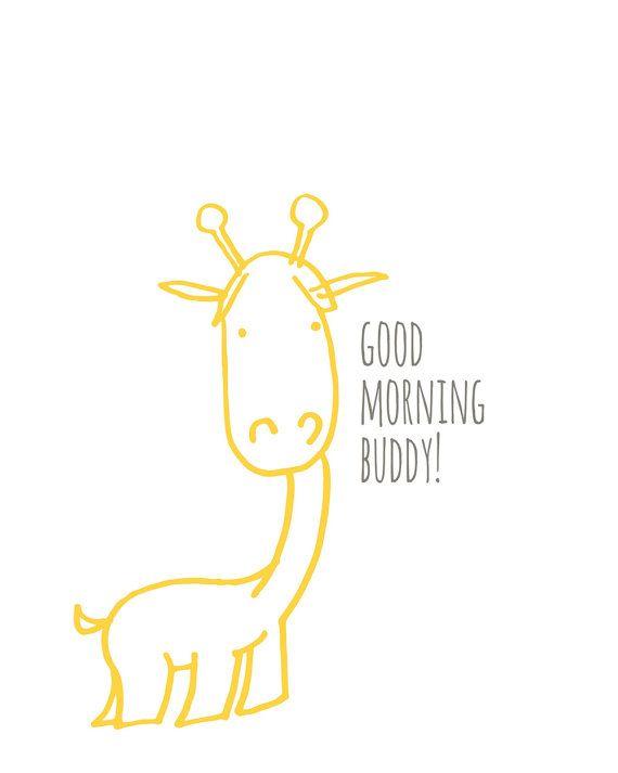 Giraffa Nursery Art & elefante Baby Nursery Art di DaphneGraphics