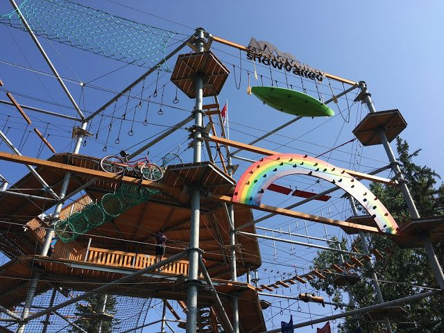 Family Adventures in the Canadian Rockies: Family Review of Edmonton's Snow Valley Aerial Park