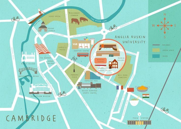 A Cambridge map       Newnham:  Ideal para estudiar en Cambridge    Cambridge es una ciudad universitaria inglesa que cuenta con varios siglos de historia desde su fundación. Se encuentra aproximadamente a 80 kilómetros de Londres.    #WeLoveBS #inglés #idiomas #Cambridge   #ReinoUnido #RegneUnit #UK  #Inglaterra #Anglaterra #College