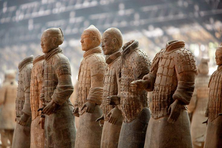 Guerreros de terracota. Terracota army. Xian. © Inaki Caperochipi Photography