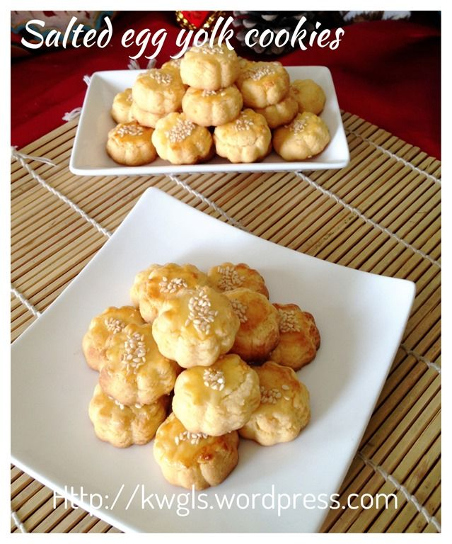 Salted Egg Yolk Cookies (蛋黄酥饼)   #guaishushu #kenneth_goh     #salted_egg_yolk_cookies   #蛋黄酥饼