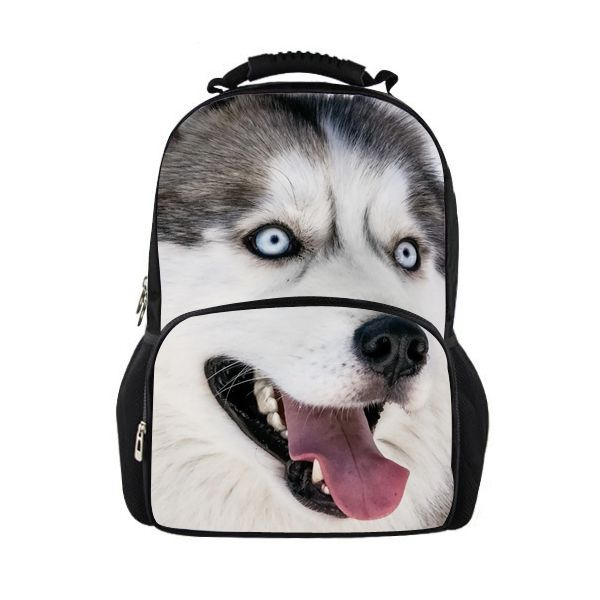2015 Animal Dog Huskies School Bags For Boys University Students Outdoor Black/White Schoolbag Bookbag Women Backpack Mochila-in School Bags from Luggage & Bags on Aliexpress.com | Alibaba Group