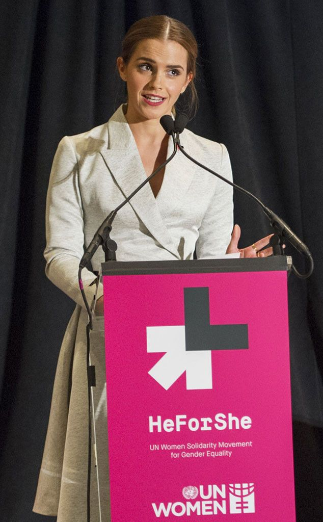 "Emma Watson recently gave a speech at the U.N. on gender inequality, supporting the launch of the U.N.'s #HeForShe campaign to have people ""see gender as a spectrum instead of two sets of opposing ideals."" While there has been some online backlash, quite a few celebrities have come out in support of Watson and this initiative."
