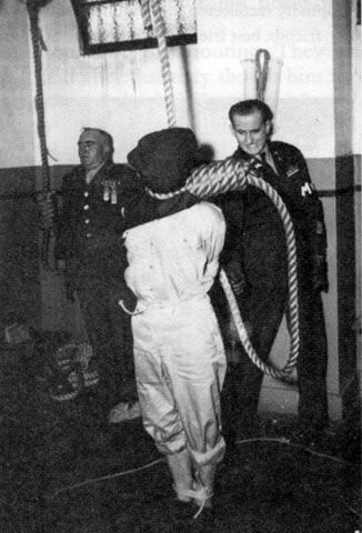 Hideki Tojo and six other Class A Japanese war criminals were hanged in 1948.