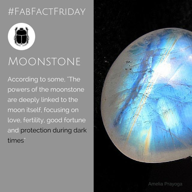 Well, we love the fact that some believe that the moonstone can offer protection against dark times - and perhaps it does... but I'd love to see if it helps with loadshedding (power outtages for our international friends)... #FabFactFriday #moonstone #birthstone