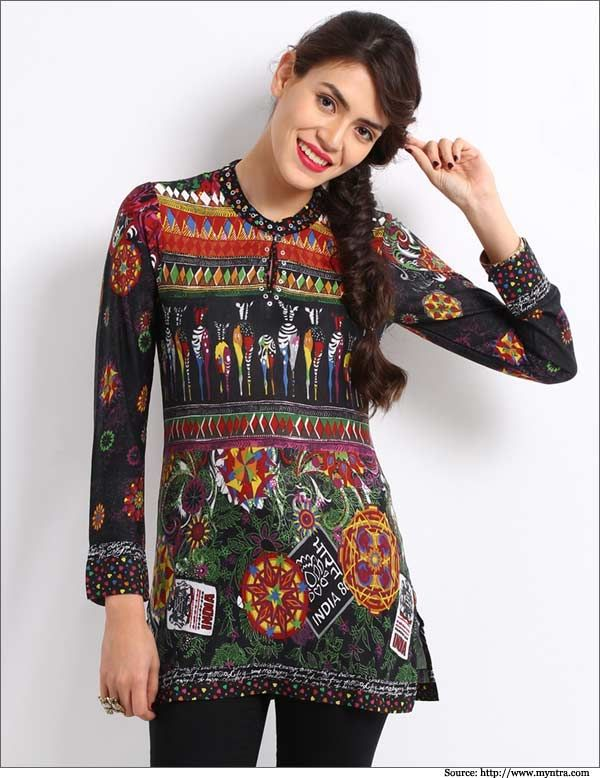 Short kurti with jeans. Read more http://fashionpro.me/10-styles-of-kurtis-for-jeans