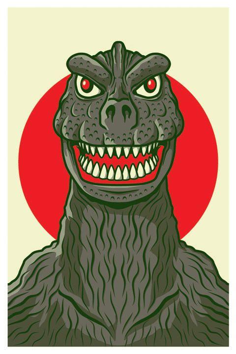 Kaiju Posters by Matt Reedy, via Behance