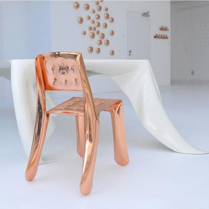 Chippensteel Chair Copper Collection Zieta Chair Plastic Furniture Metal Chairs