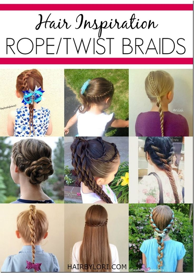 Hair inspiration - Rope Twist braids! So many cute ways to use this technique
