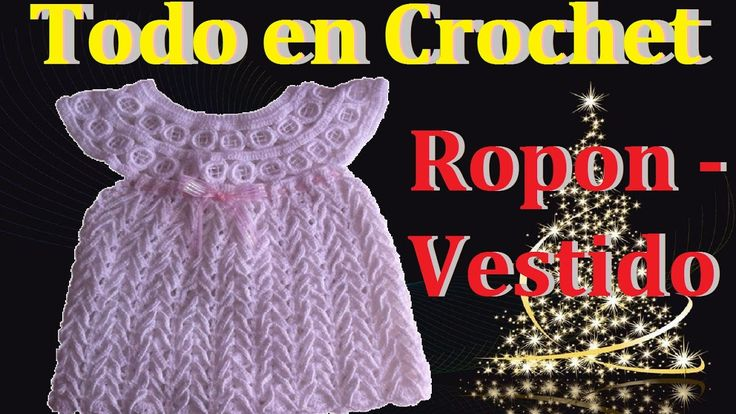 Vestido ropón parte 1  bautizo, presentación talla 0 a 3 meses
