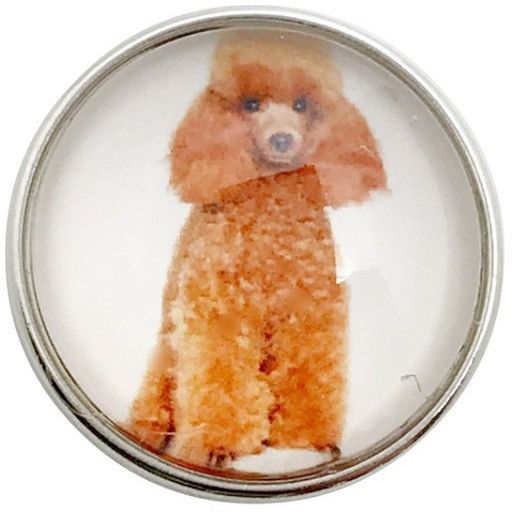 #5140 Standard Poodle Dog Snap 20mm for Snap Jewelry