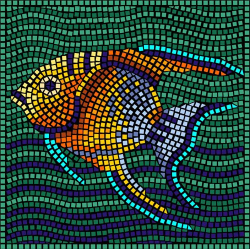 this is something you can do with clip art..make a mosaic!
