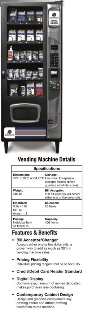 Accessories 50812: Ebonite Around The Clock Bowling Pro Shop Vending Machine -> BUY IT NOW ONLY: $3500 on eBay!