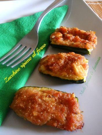 Mini barchette di zucchine ripiene al forno. Ricetta finger food