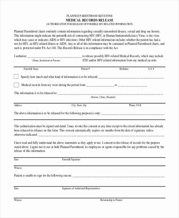 40 Medical Record Release Form With Images Medical Records