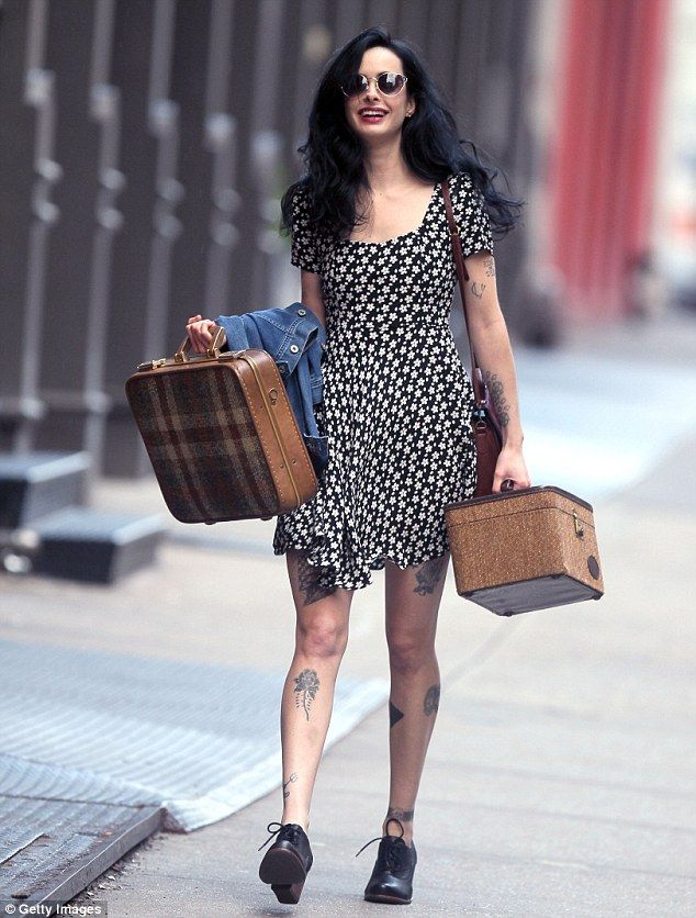 "Krysten Ritter sports fake tattoos for new rocker movie ""Asthma"""