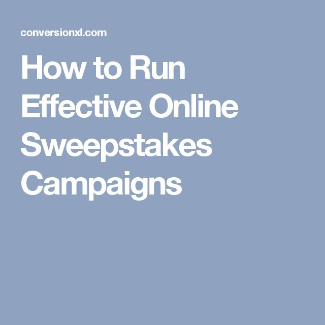 How to Run Effective Online Sweepstakes Campaigns