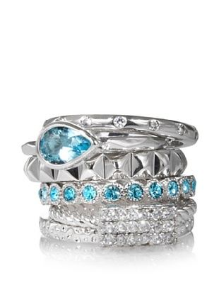 57% OFF Beyond Rings Pyramid Set of 6 Stack Rings