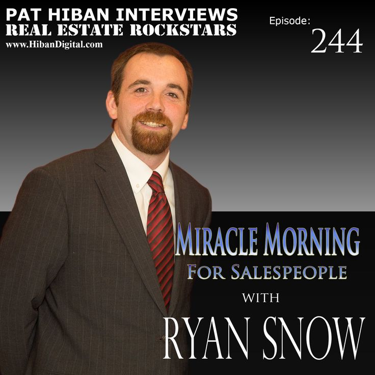 Ryan Snow is the co-author, along with Hal Elrod, of The Miracle Morning for Salespeople, the #1 new release on Amazon for Sales and Selling Management. Ryan is also a Speaker, Team Leader and Business Coach for Keller Williams Realty just northwest of Boston... #realestate #podcast #pathiban #hibandigital #hibangroup #HIBAN #realestatesales #realestateagent #realestateagents #selling #sales #sell #salespeople #salesperson #ryansnow