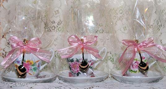 tea party favors wedding and baby shower favors miniature teapot favors victorian favors tea cup candle