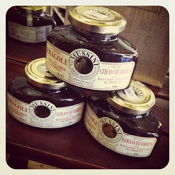@ferrarioliveoil Try our Italian Strawberry Balsamic Componte. This jam is sweet with a slight kick. Crazy.