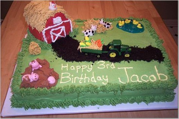 John Deer/barn Cake  on Cake Central