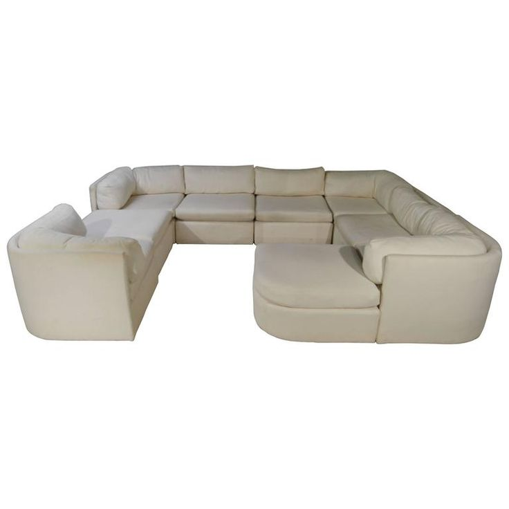 Milo Baughman for Thayer Coggin Modular or Sectional Sofa | From a unique collection of antique and modern sectional sofas at https://www.1stdibs.com/furniture/seating/sectional-sofas/