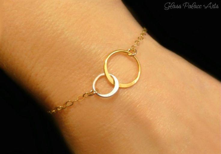 Infinity Circle Bracelet - Mixed Metal Eternity Bracelet #GoldJewelleryMangalsutra